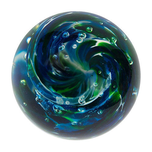 Marbles -  Ocean Bubble Twist - Collectors Marble