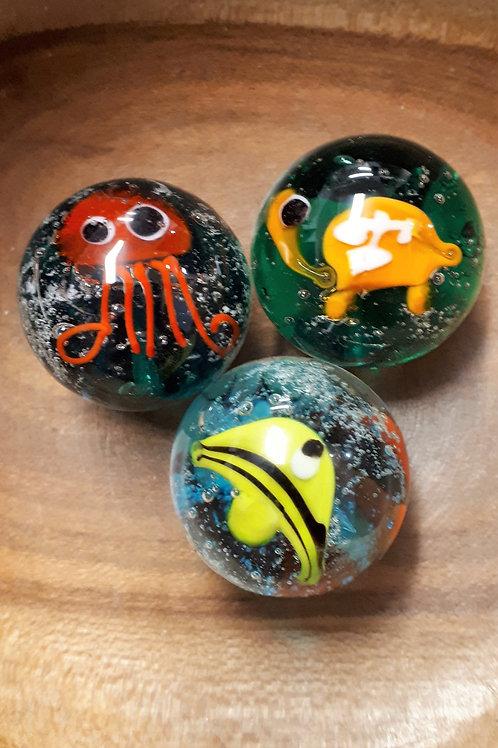 Marbles - Aquarius  - Handmade