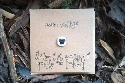 'Noun: Vintage....' greetings card