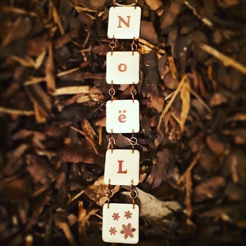 Noel - Fused Glass Chain Letters