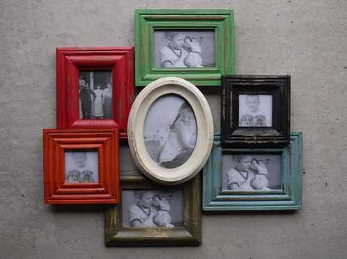 American Primitive Wooden Picture Frame