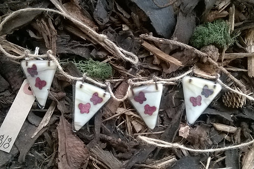 Fused Glass Bunting - Butterflies