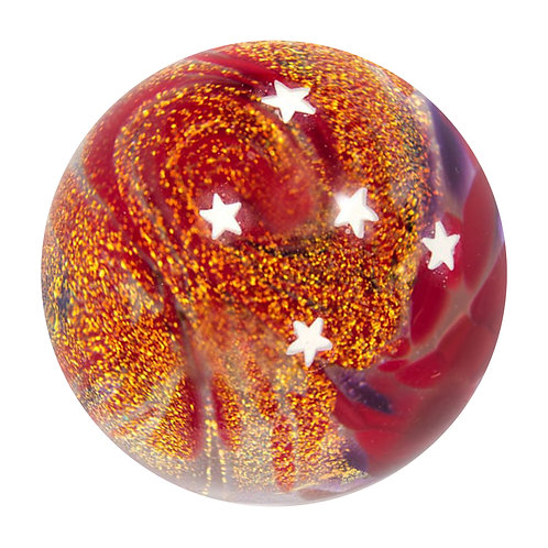 Marbles - Red Stars - Collectors Marble
