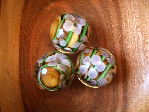 Marbles - Lotus - Handmade