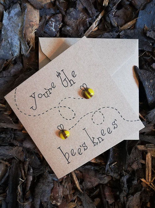 'You're the bee's knees' greetings card