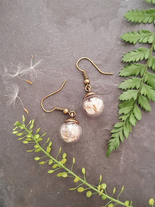 Dandelion Drop Earrings