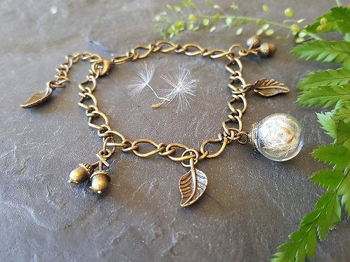 Dandelion Terrarium Bracelet