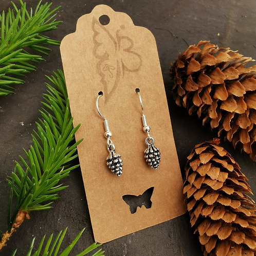 Pine Cone Drop Earrings