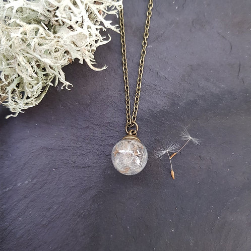 Dandelion Seed Globe Necklace