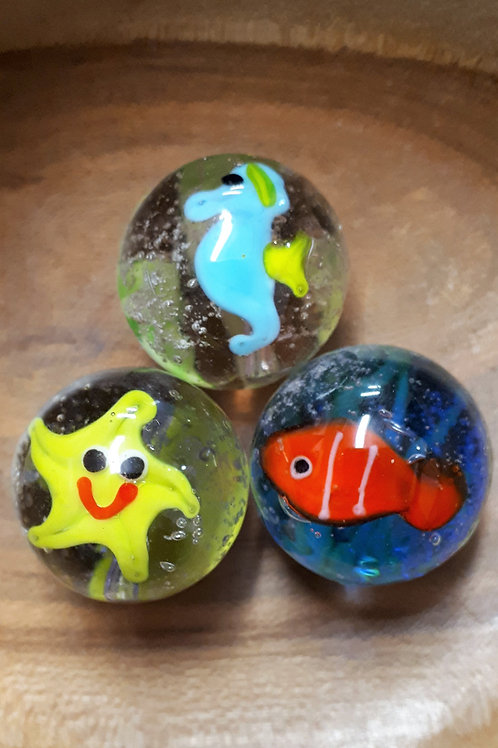 Marbles - Under the Sea - Handmade