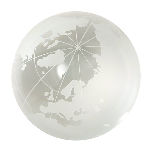 Marbles - Frosted World Map Marble