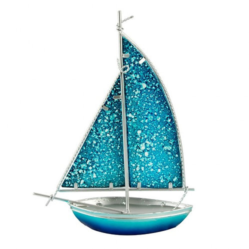 Stained Glass Yacht - light blue