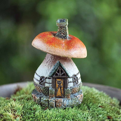 Enchanted Mini Mushroom Cottage - Fairy Garden
