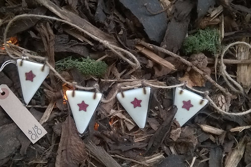 Fused Glass Bunting - Star