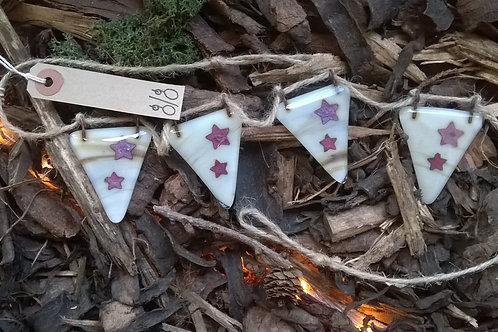 Fused Glass Bunting - Stars