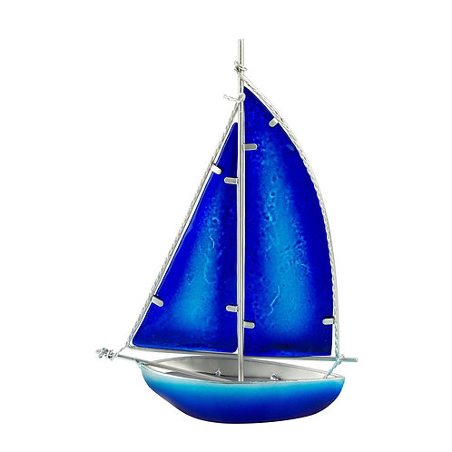 Stained Glass Yacht - dark blue
