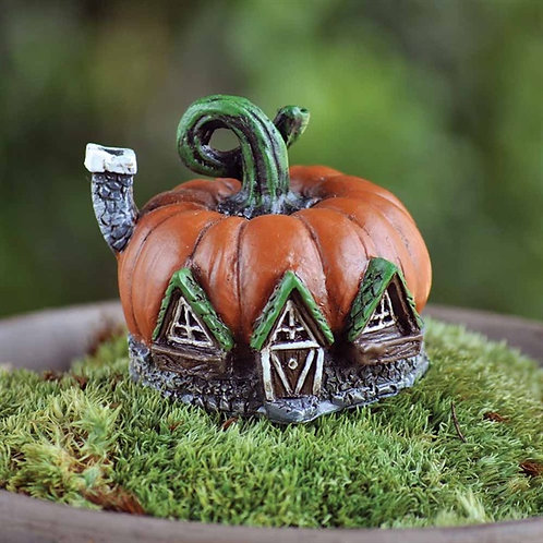 Enchanted Mini Pumpkin Cottage - Fairy Garden