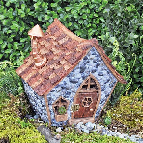 Shingletown Crooked Little Fairy Home - The Fiddlehead Fairy Garden