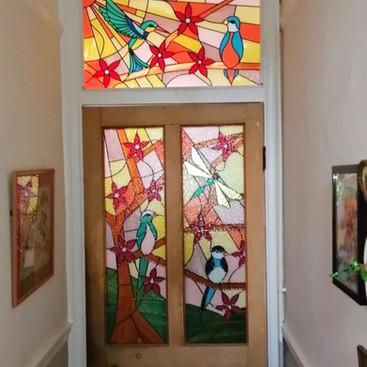 Overlay lead door panels