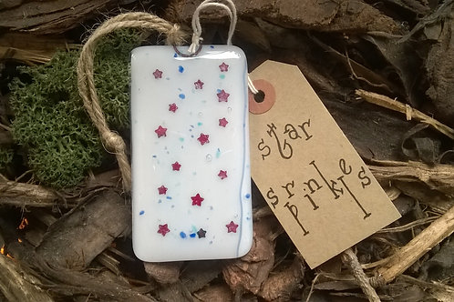 Fused Glass Hanger - Star Sprinkles