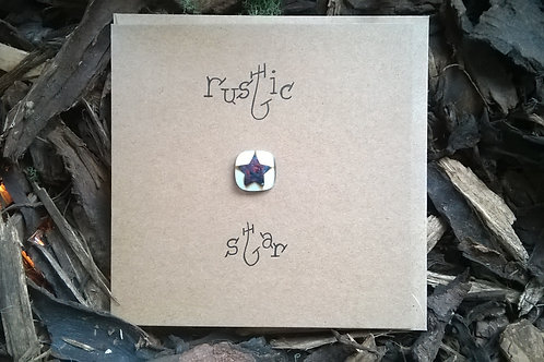 'Rustic star' greetings card