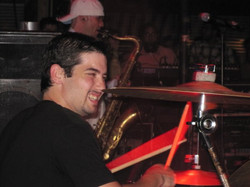 Dan tearing it up on the drums