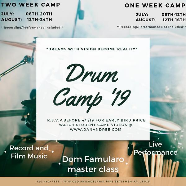 Summer Drum Camp - Lehigh Valley