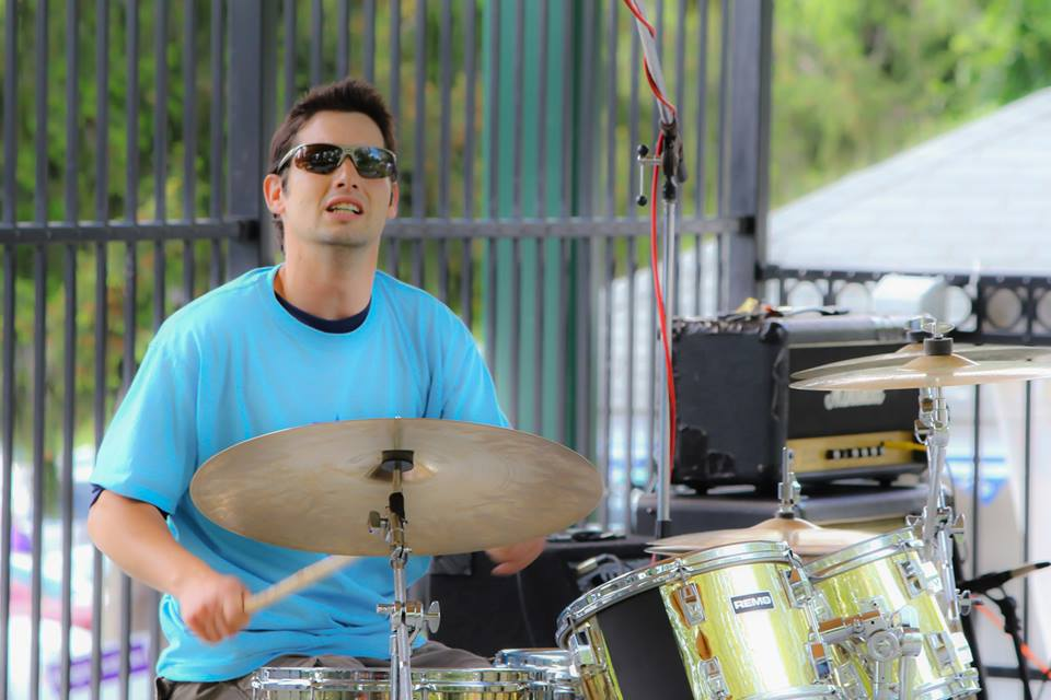 Dan drumming at Relay for Life