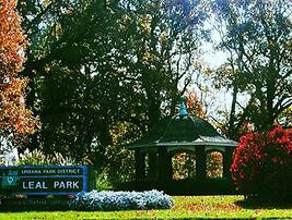 park gazebo in autumn