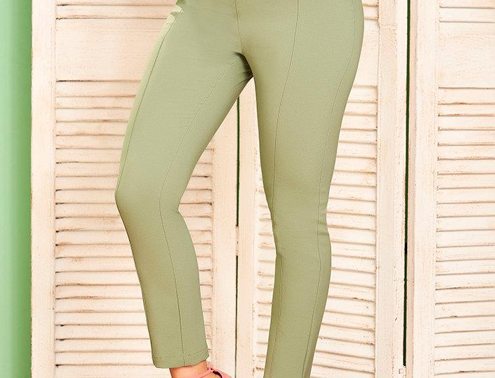 Pantalón skinny con cierres en costado