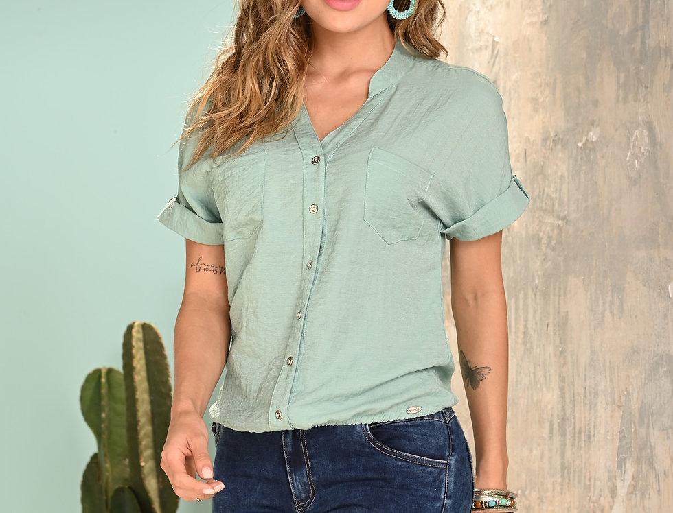 Blusa M/C  con elástico en cintura
