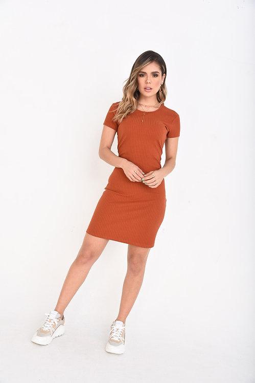Vestido Acanalado