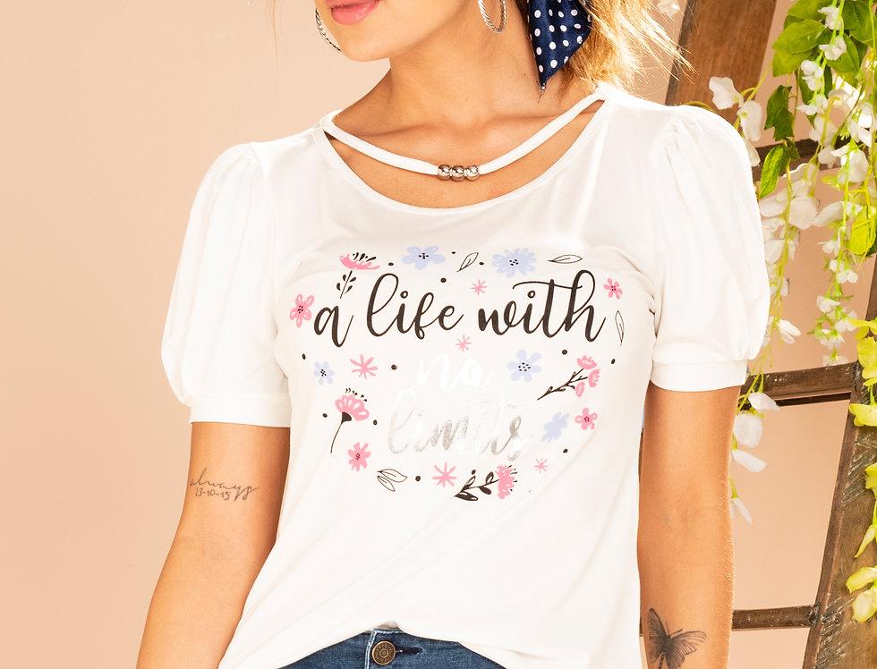 Camiseta M/C con estampado localizado