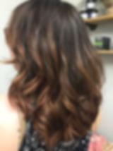 Balayage hair style