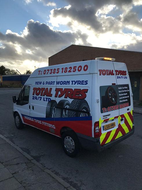 Total Tyres 24/7 Ltd's van