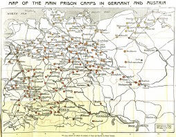 MAP of POW Camps in Germany Austria 3