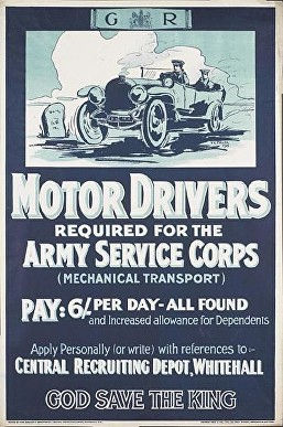 Army service corps poster
