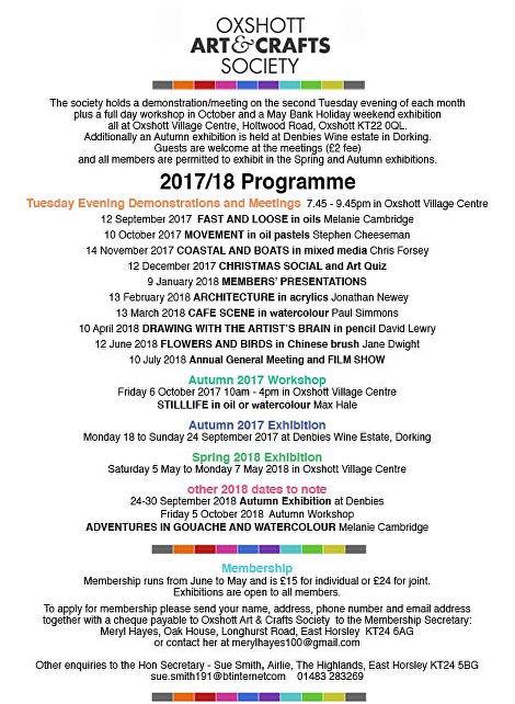 Art & Craft Society17-18
