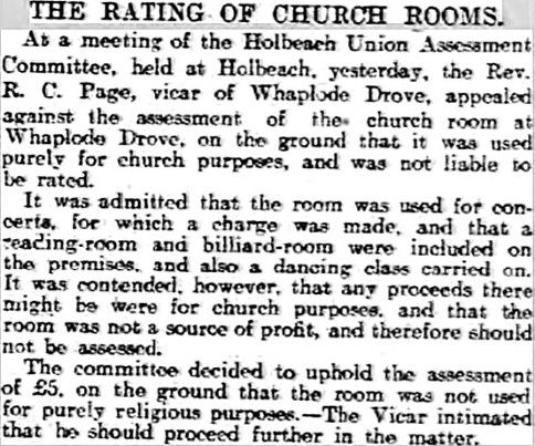 Churchroom article - room rating