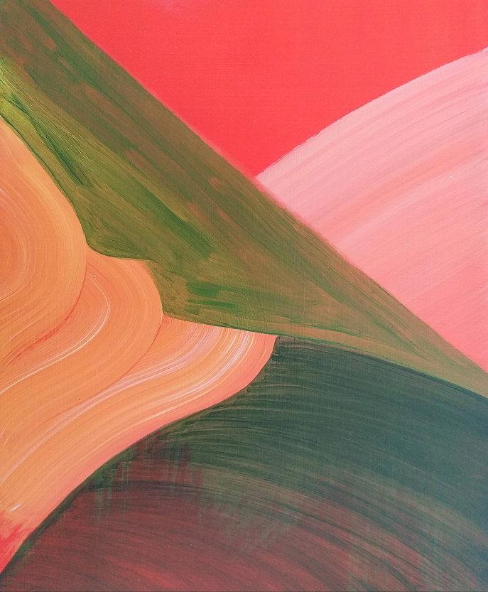 Fiona Eastwood, Leap, Oil on Board 25 x 30cm 2020