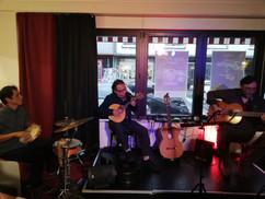 Antonio Restucci, Luis Barrueto und Rodrigo Santa Maria im Café de Paris Saarbrücken