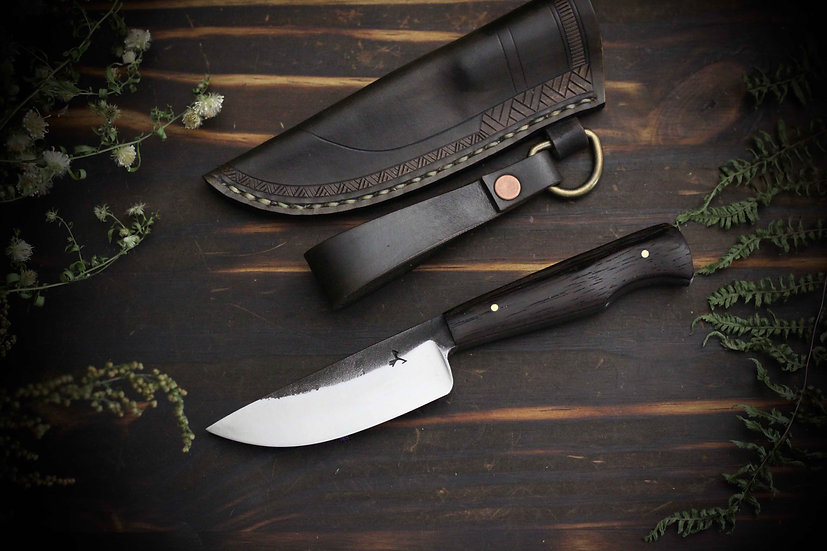 Hand Forged Everyday Carry Blade With Hang Sheath