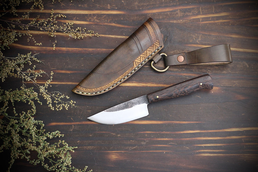 Hand Forged Everyday Carry Blade With Wenge Handle