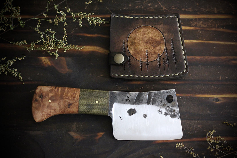 Cleaver With Moon Sheath