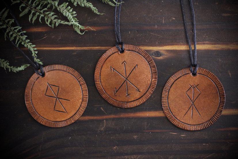3-Pack Handmade Bind Runes Decorative Ornaments - New Year Set