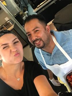 Ioana and Chef Jose