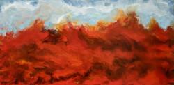 Red Seas - encaustic on wood, 24 X 48