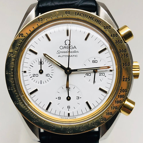 Omega Speedmaster Reduced 18ct. Gold  Bezel Automatic cal.1140