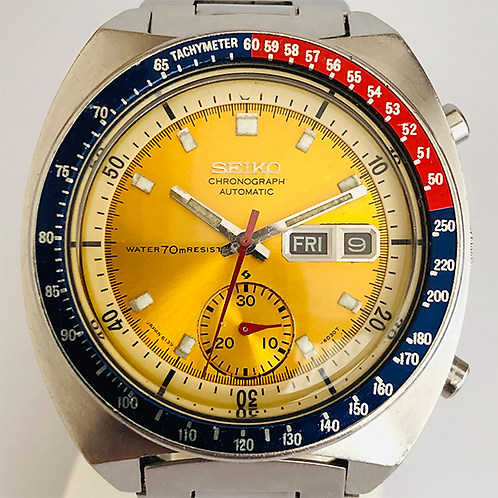 Seiko Pogue Chronograph Pepsi cal 6139 JAPAN MADE