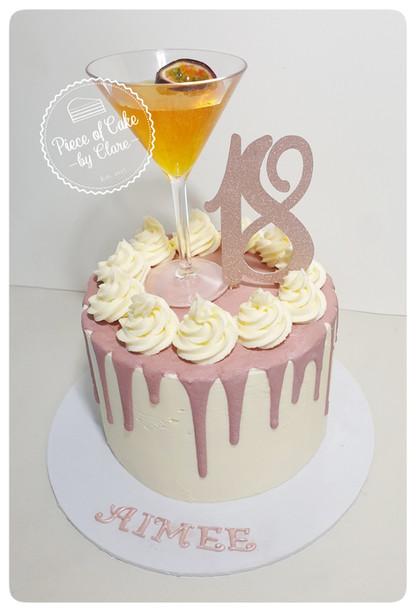 Pornstar martini cake perfect for 18th birthday